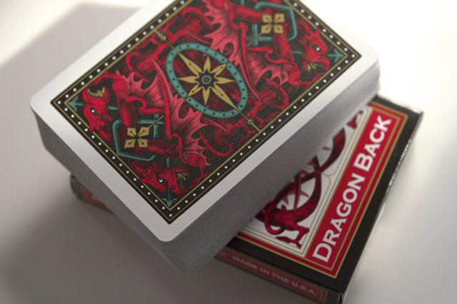 Dragon Back Playing Cards Red 2