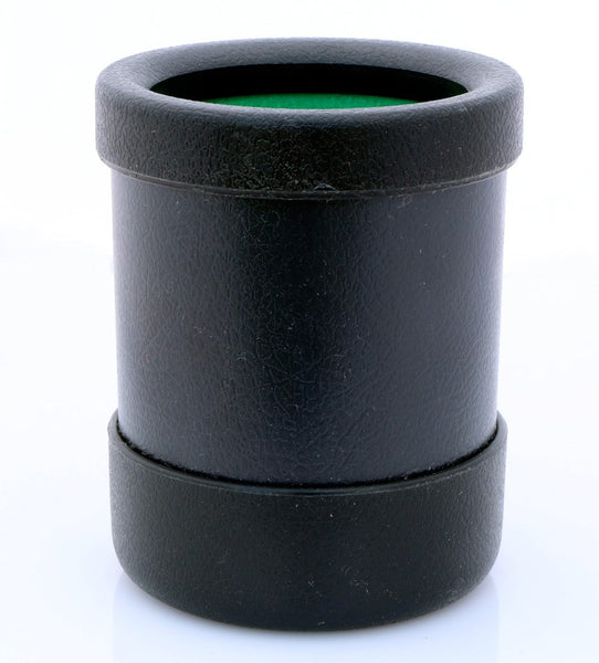 black plastic dice cup