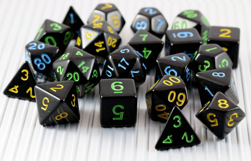 Cool D&D Dice Black