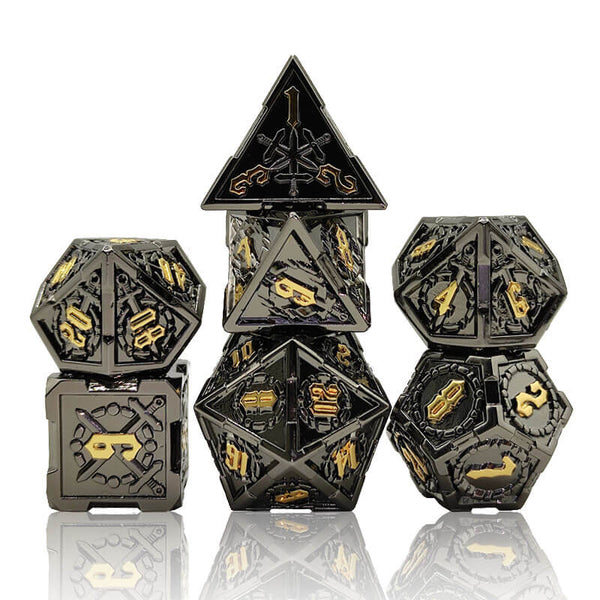 Sword dice black and gold