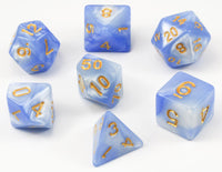 D&D Dice Frozen Blue