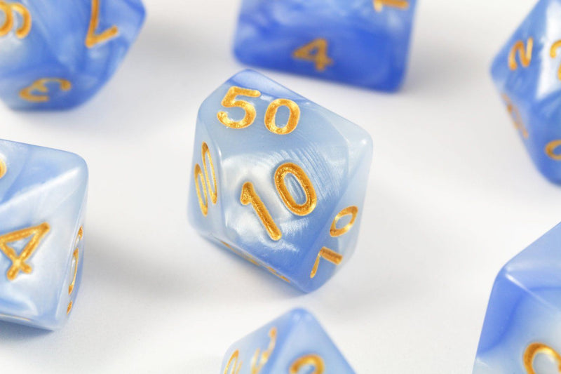 RPG Dice Frozen Blue