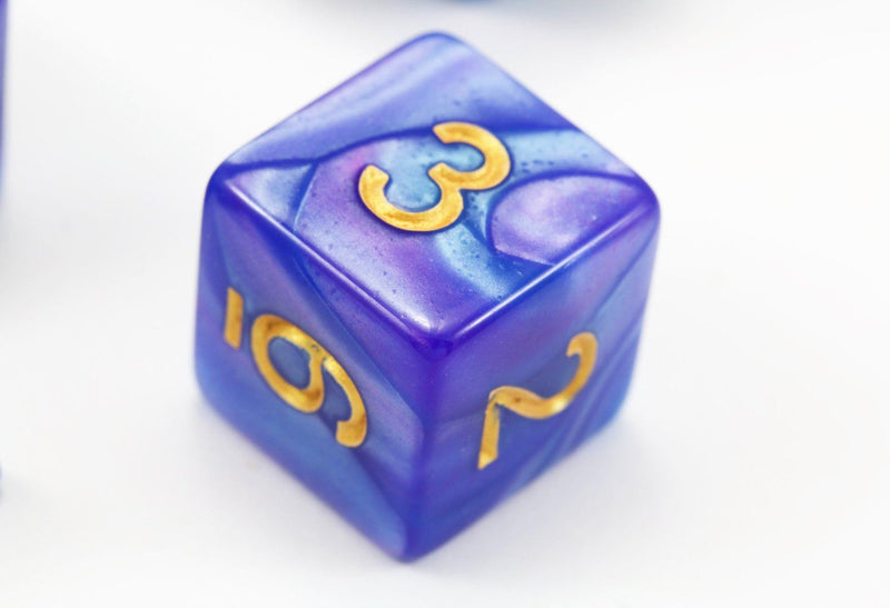 RPG Dice Illusionist Blue and Purple