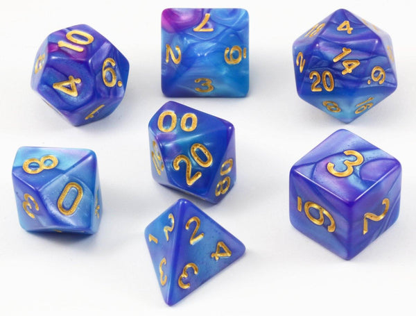 D&D Dice Blue and Purple