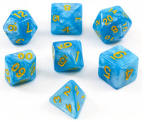 sky blue dnd dice
