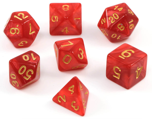 RPG dice red