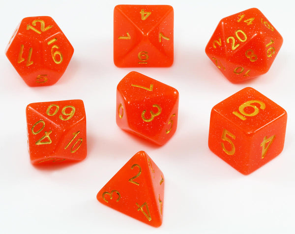 Blood Moon D&D Dice