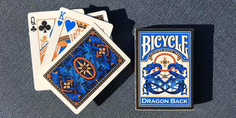 Dragon Back Playing Cards Blue 1