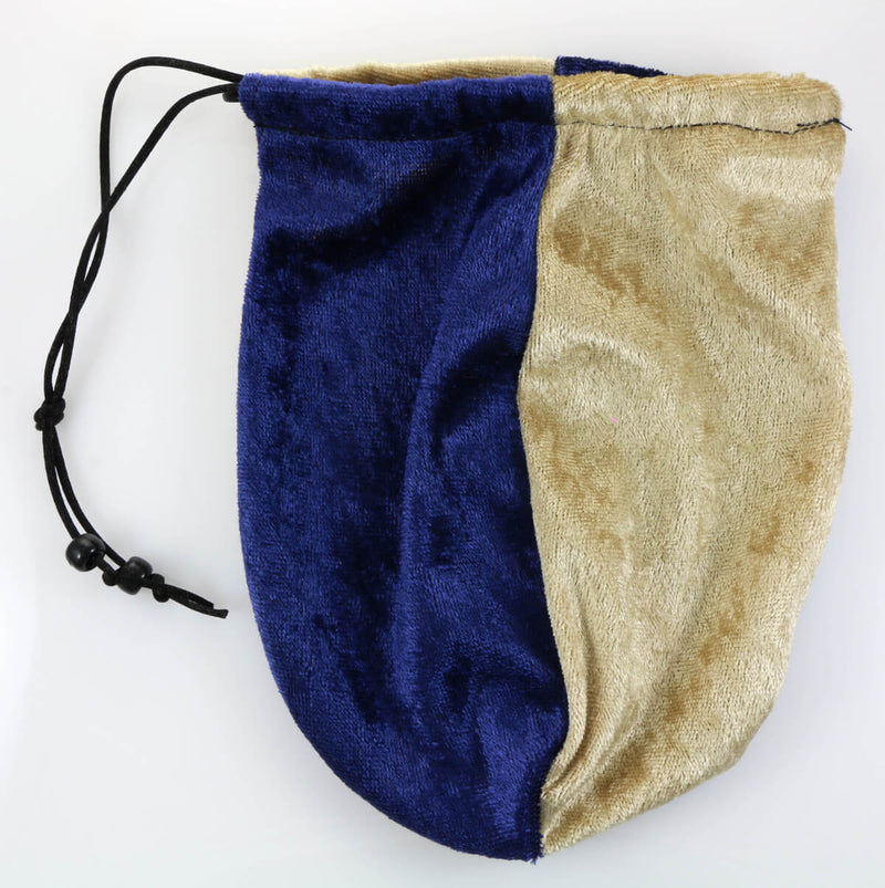 Dice Bag Blue Gold