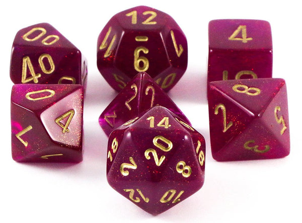 Borealis Dice Magenta Rpg Role Playing Game Dice Set