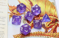 D&D Dice Borealis Purple