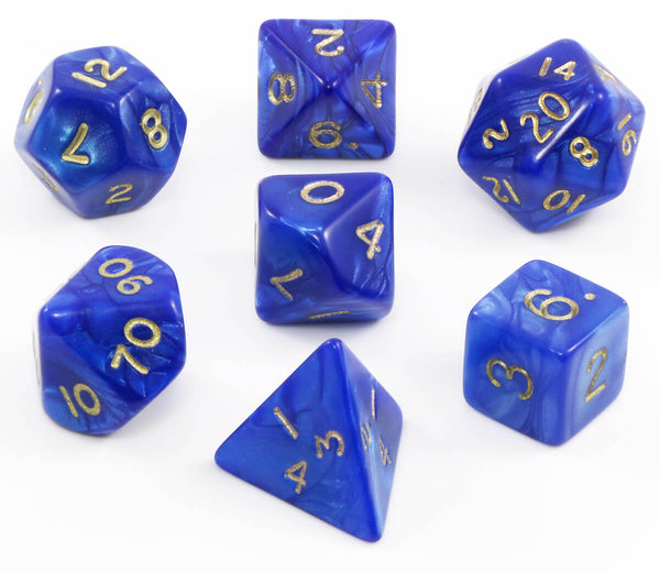 RPG dice pearl blue
