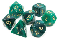 Green RPG pearl dice