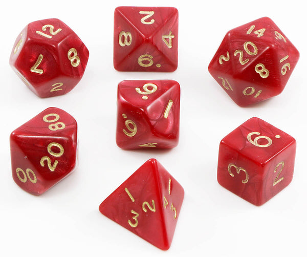 Pearlescent DnD Dice red