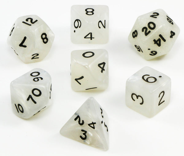White pearl dnd dice