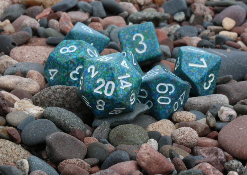 RPG Dice Speckled Sea
