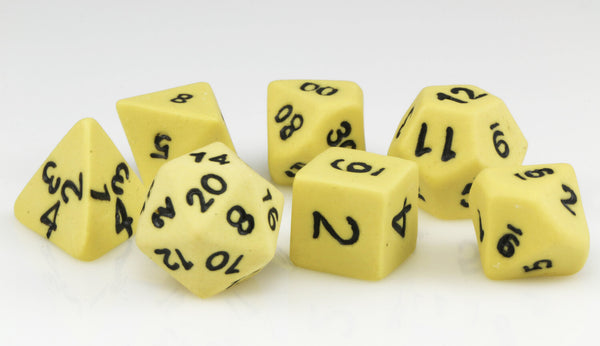 Ceramic Dice Yellow