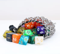 stainless steel chainmail dice bag