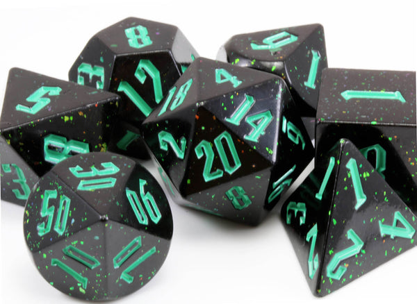 Chaotic Dice with Glitter