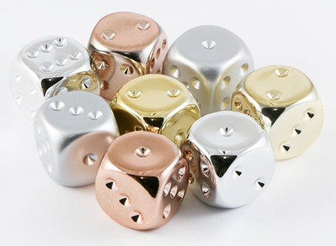 D6 Dice Metallic Plated