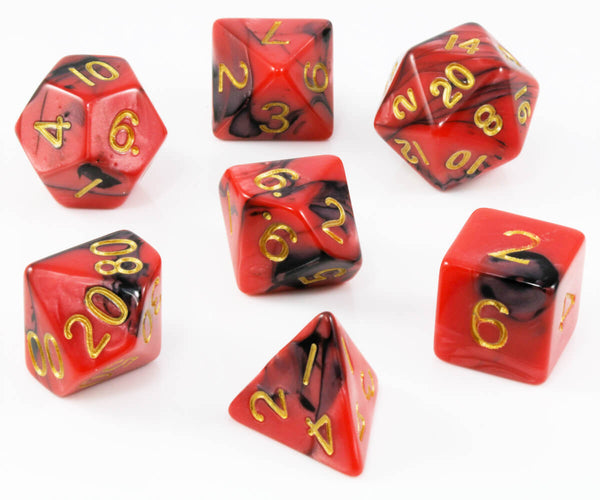 D&D Dice red and black