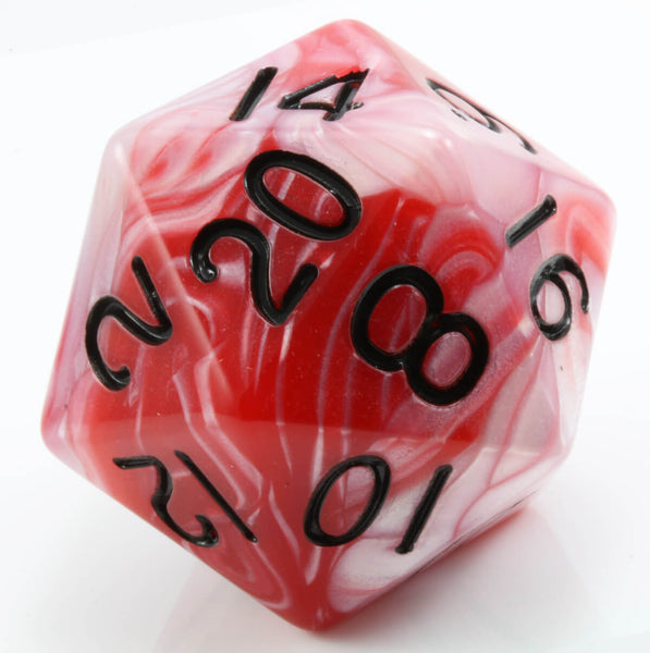 Giant d20 red white