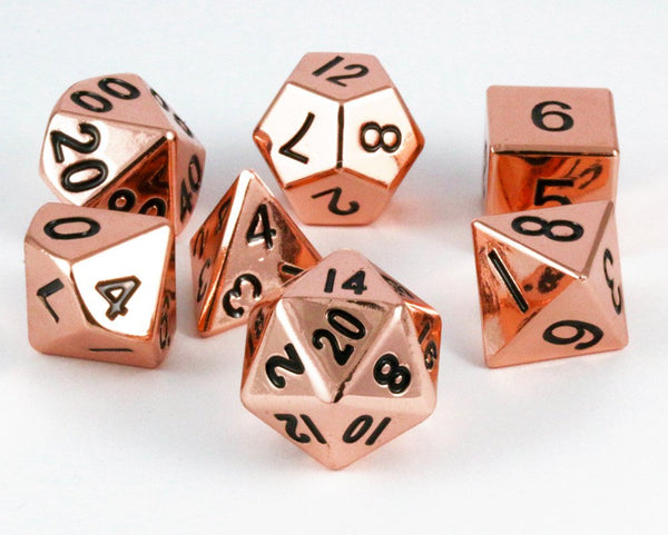 metal copper dice