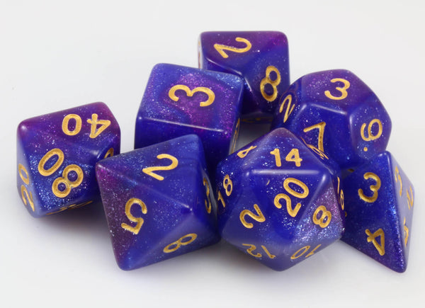 Cosmic Dice Blue and Purple