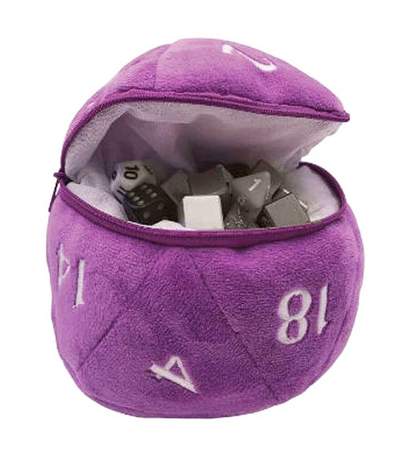 d20 Dice Bag Purple