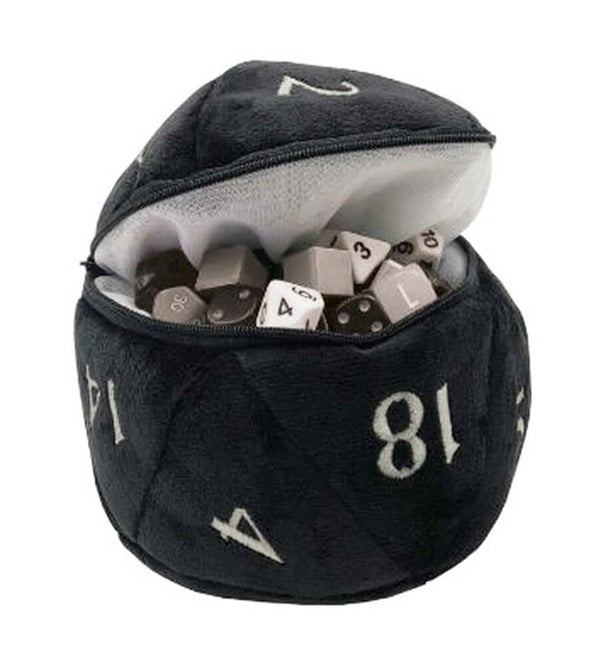 d20 Dice Bag Black