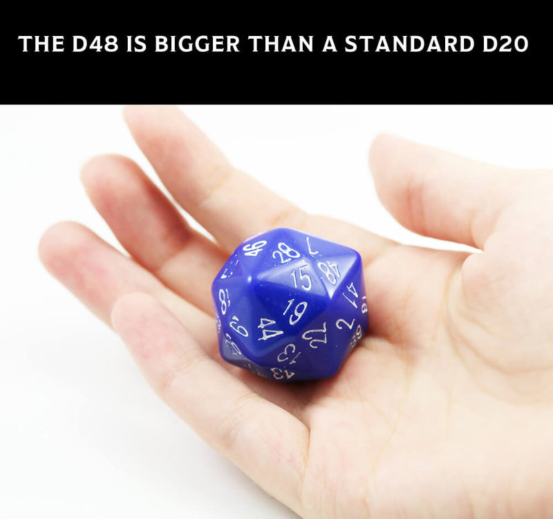 d48 sided dice size