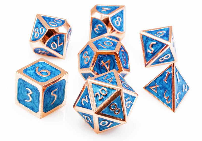 Maelstrom Blue and Copper dice