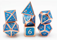 Blue Dice Metal Enamel