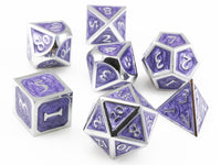 Metal Enamel Dice Purple