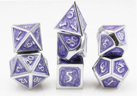 Purple Metal DnD Dice