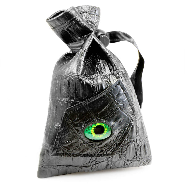Monster Eye Dice Bag Green