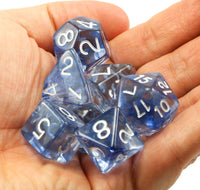 Large D&D Dice Blue Ink