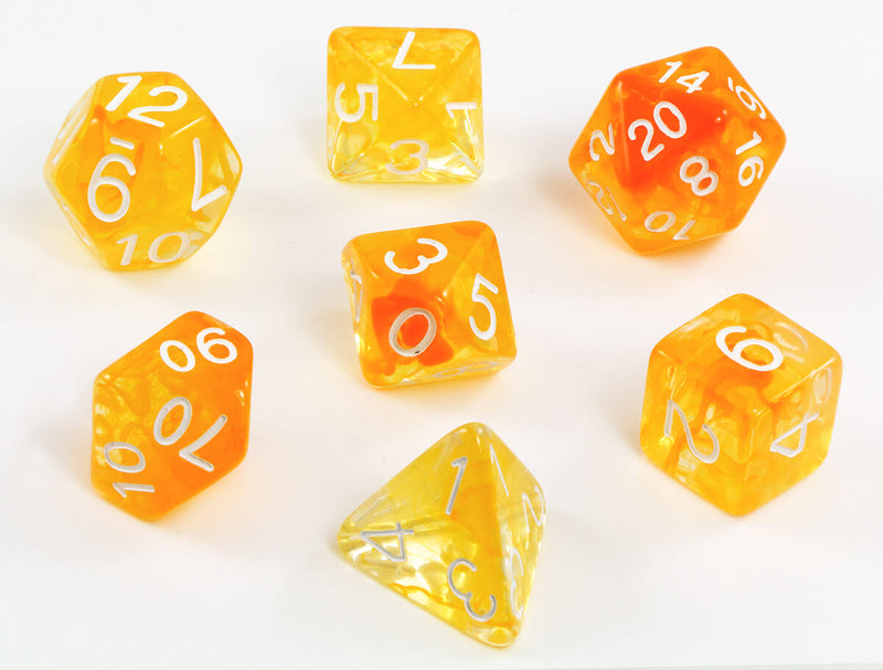 Large D&D Dice Citrus Orange