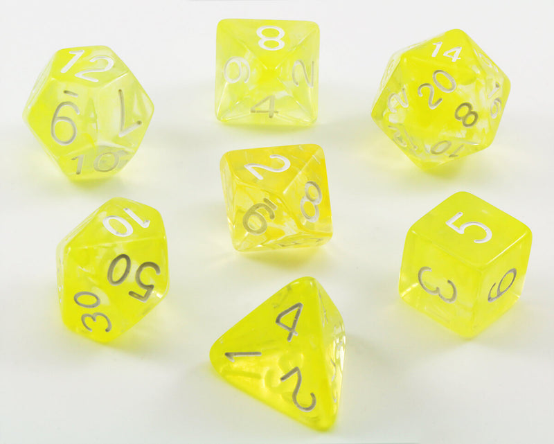 Large D&D Dice Ochre Jelly