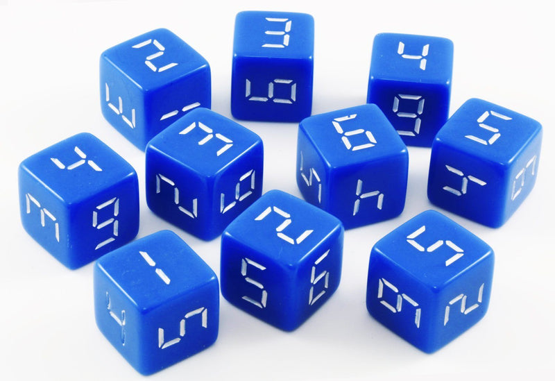 Digital d6 dice blue