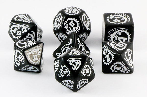 dragon dice black white