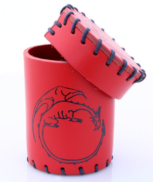 dice cup red dragon