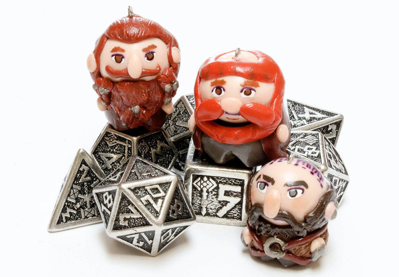 Metal RPG Dice Dwarven
