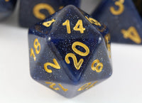 DnD Dice D20 Midnight Blue