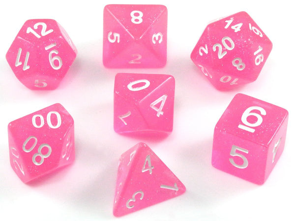 D&D Dice Pink Set