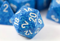 d20 Speckled Blue Dice