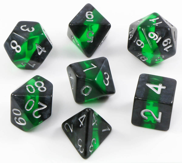 Elfstone Dice (Emerald) RPG Role Playing Game Dice Set