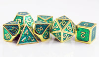 D&D green and gold dice