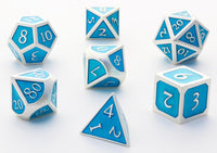 Enamel dice RPG blue