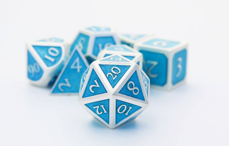 Enamel Dice D20 blue